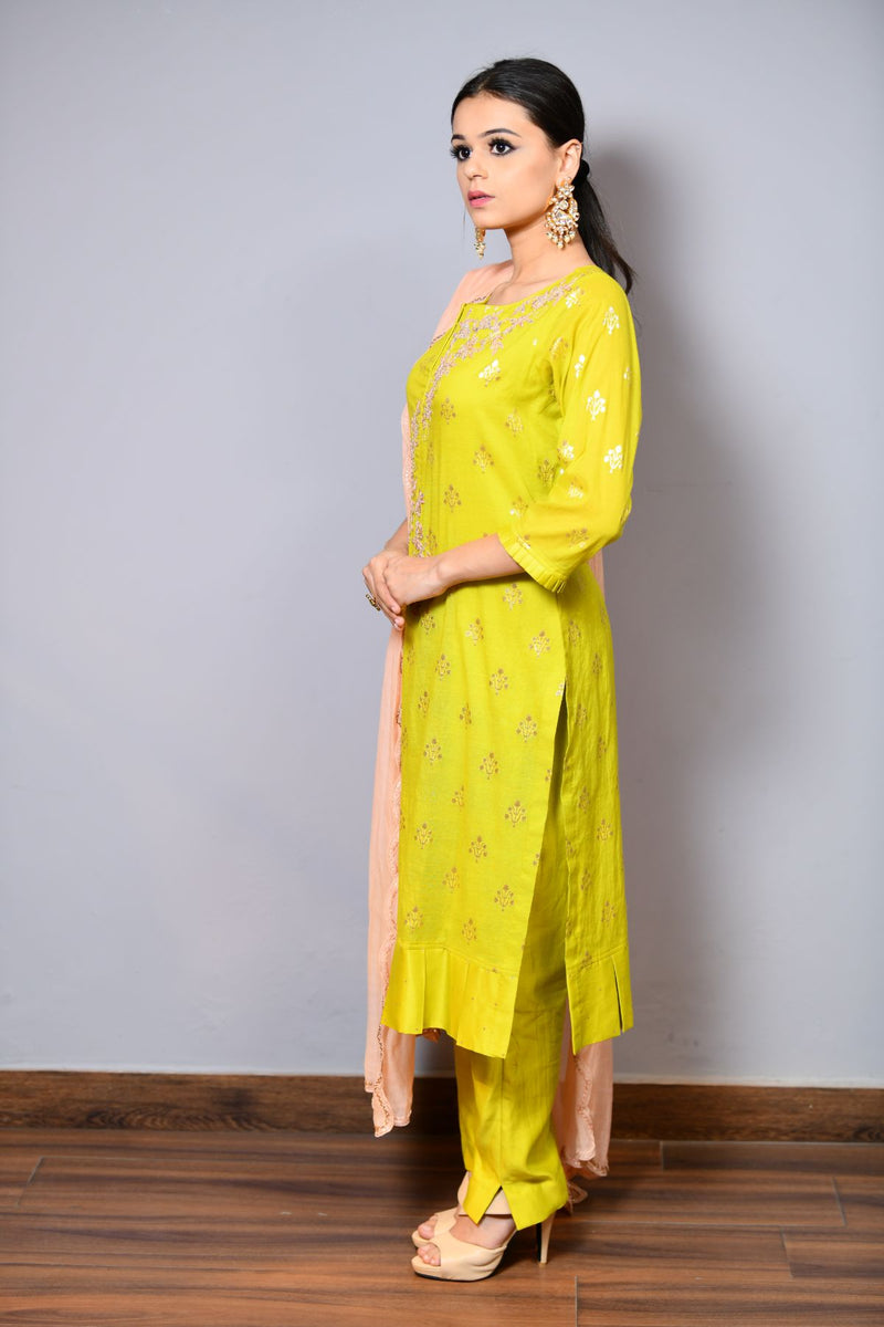Straight Shirt With Trouser - Saisha