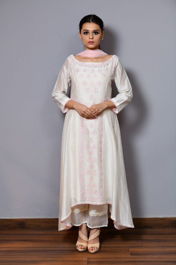 Asymmetrical Shirt With Trouser - Saisha