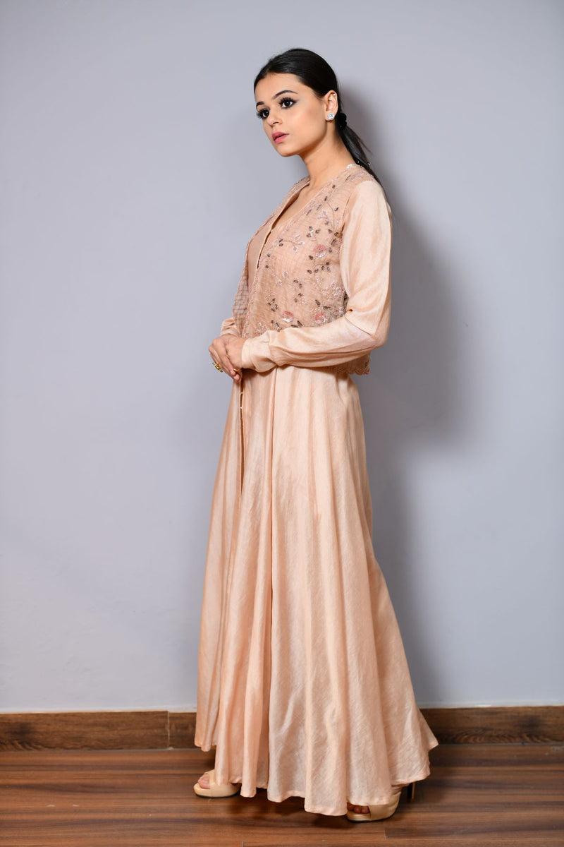 Short Jacket With Anarkali - Saisha