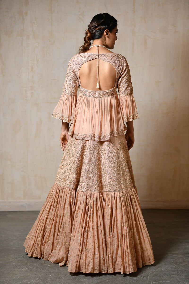 Dusty Peach Lehenga Choli - Saisha
