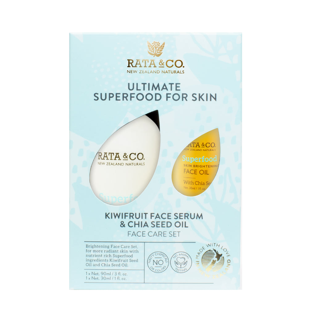 Superfood for skin - Kiwifruit Face Serum and Chia Seed Face Oil Set