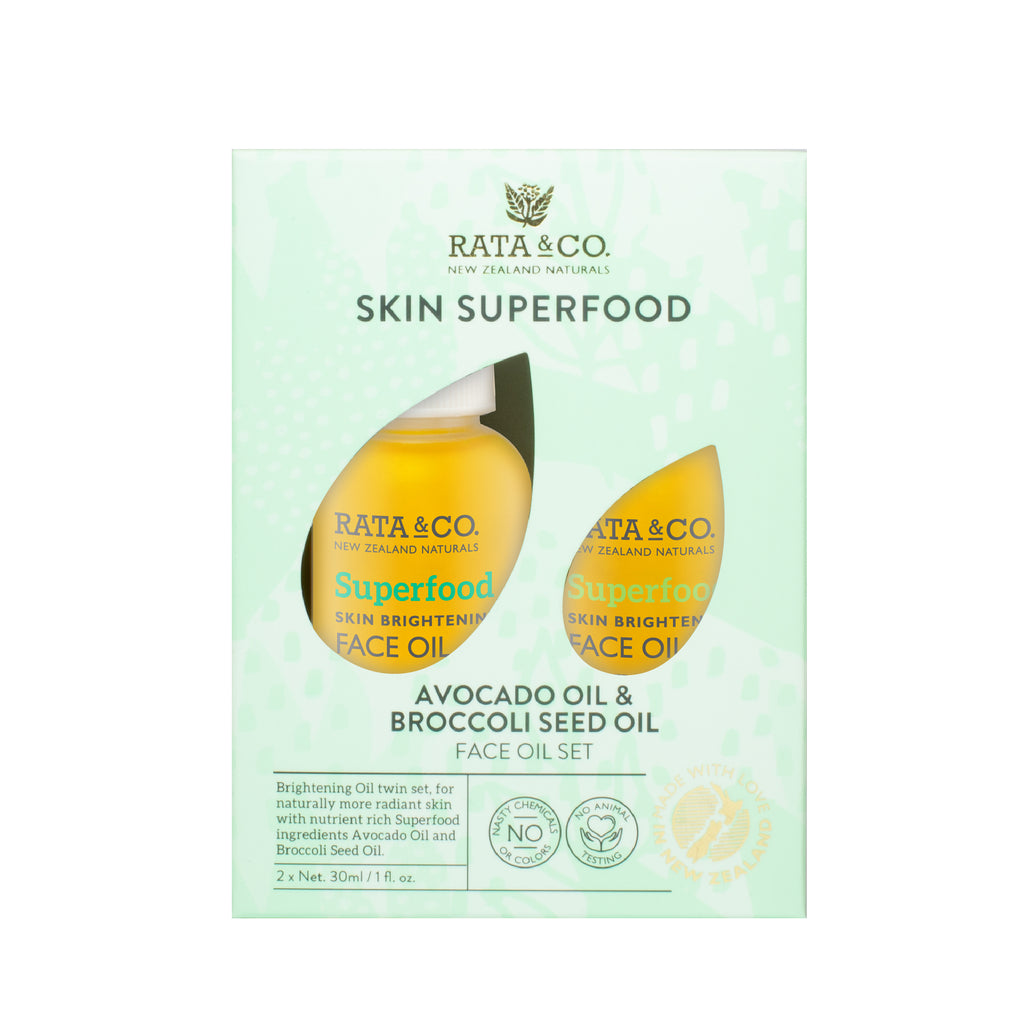 Skin Superfood - Avocado Oil &  Broccoli Seed Oil  Face Oil Set