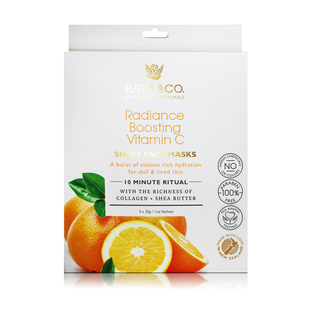 Radiance Boosting Vitamin C Sheet Face Masks 5pack
