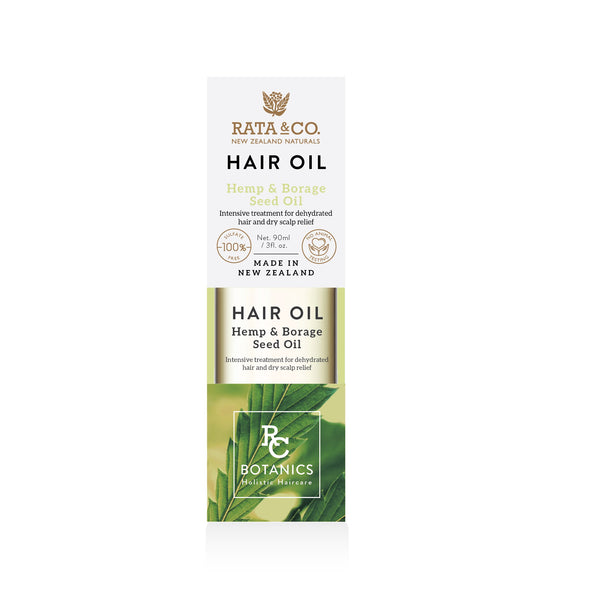 Hair Oil with Hemp & Borage Seed Oil