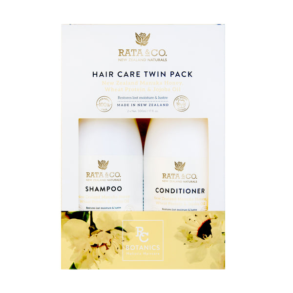 New Zealand Manuka Honey, Wheat Protein & Jojoba Hair Care Twin Pack