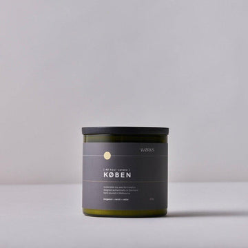 WØRKS KØBEN 40hr Candle - Bergamot; Neroli; Cedar | Deko International