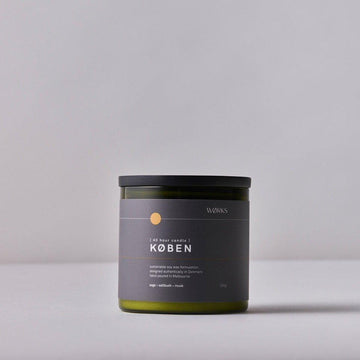 WØRKS KØBEN 40hr Candle - Saltbush; Sage; Musk | Deko International