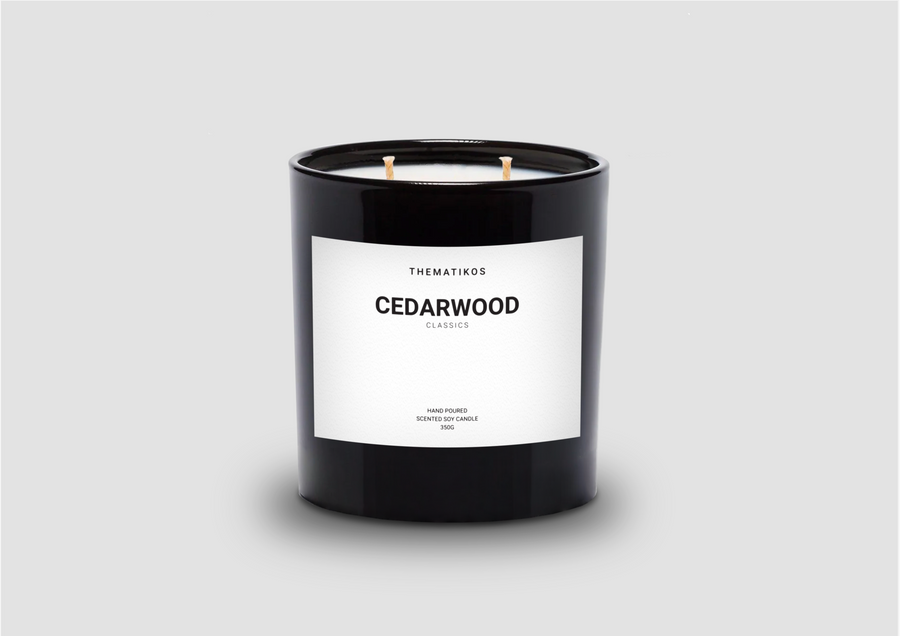Thematikos Cedarwood Candle 350g | Deko International
