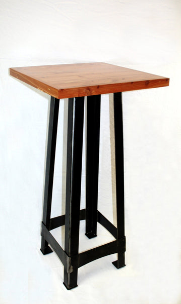 FLYNN PUB TABLE with BANDED CEDAR TOP