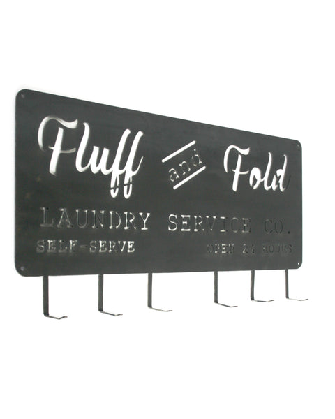 FLUFF AND FOLD LAUNDRY SERVICE CO. WALL HANGER