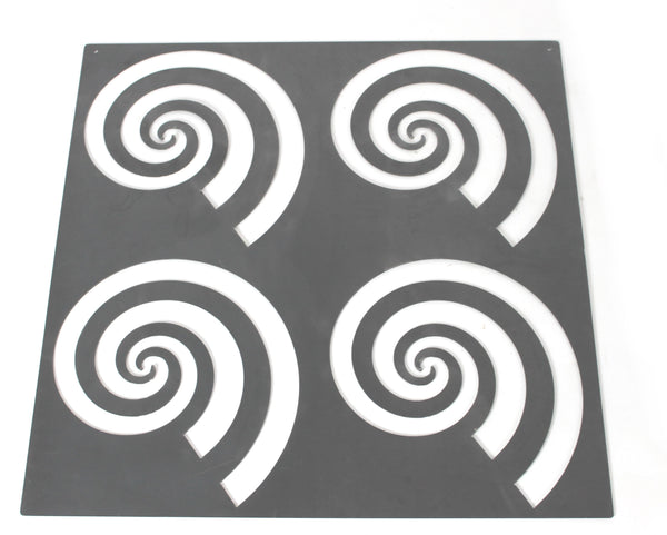 FOUR SWIRLS WALL ART