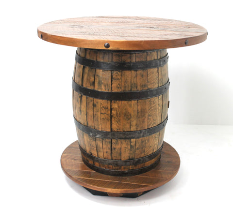 JACK WHISKEY BARREL PUB TABLE