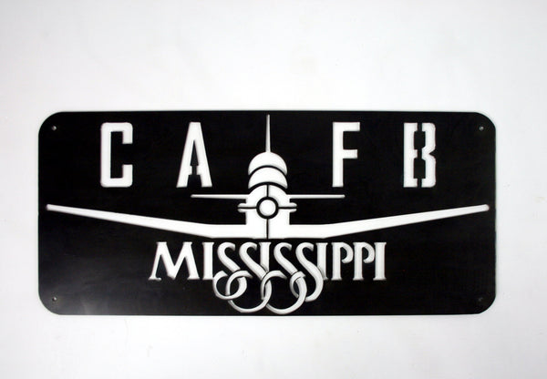 COLUMBUS AIR FORCE BASE T-6 PLANE SIGN