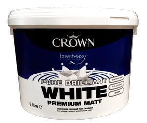 Crown Matt Emulsion 9ltr Brilliant White