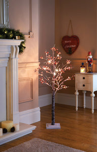 4ft Red Berry Snowy Twig Tree