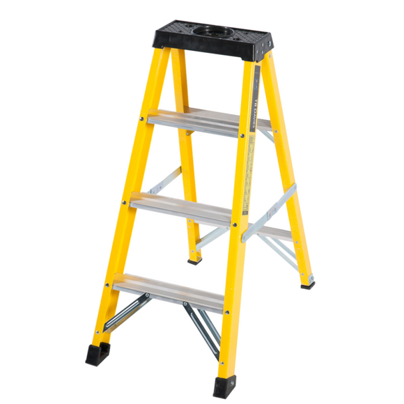 4 Step Single-Sided Fibreglass Step Ladder