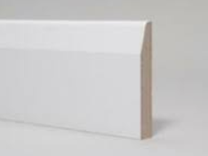 White Primed Chamfered Skirting