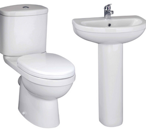 IVO 5 PIECE BATHROOM SUITE.