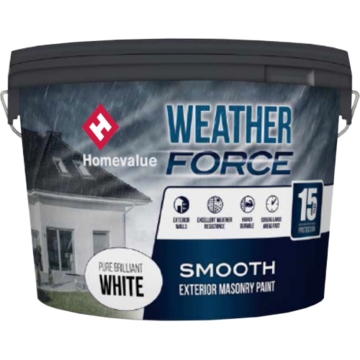 HOMEVALUE WEATHERFORCE PAINT 10L- MAGNOLIA