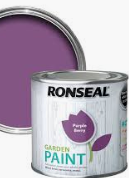 Ronseal Garden Paint Purple Berry