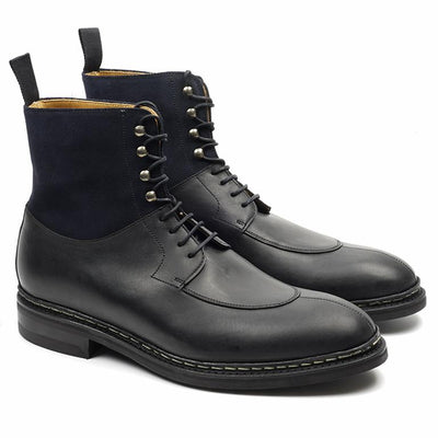 BlackBurn Cuir Gras Noir Semelle Dainite-Chaussures-Norbert Bottier