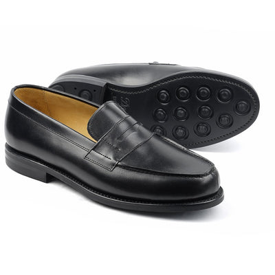 Mocassin Boston Cuir Noir Semelle Dainite-Chaussures-Norbert Bottier