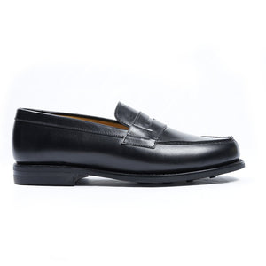 Mocassin Boston Cuir Noir Semelle Dainite-Norbert Bottier