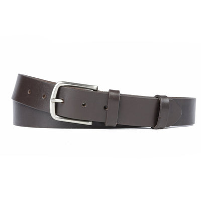 Ceinture Marron Sans Couture 30 mm-Norbert Bottier