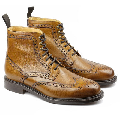 Mountain Boot's Cuir Grainé Gold-Chaussures-Norbert Bottier
