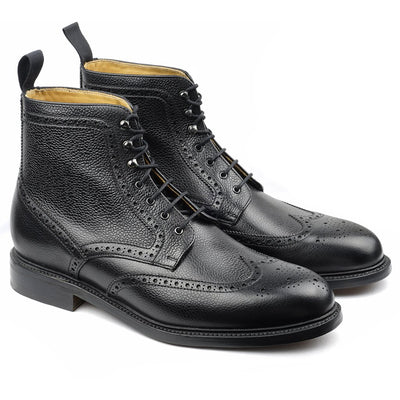 Mountain Boot's Cuir Grainé Noir-Chaussures-Norbert Bottier