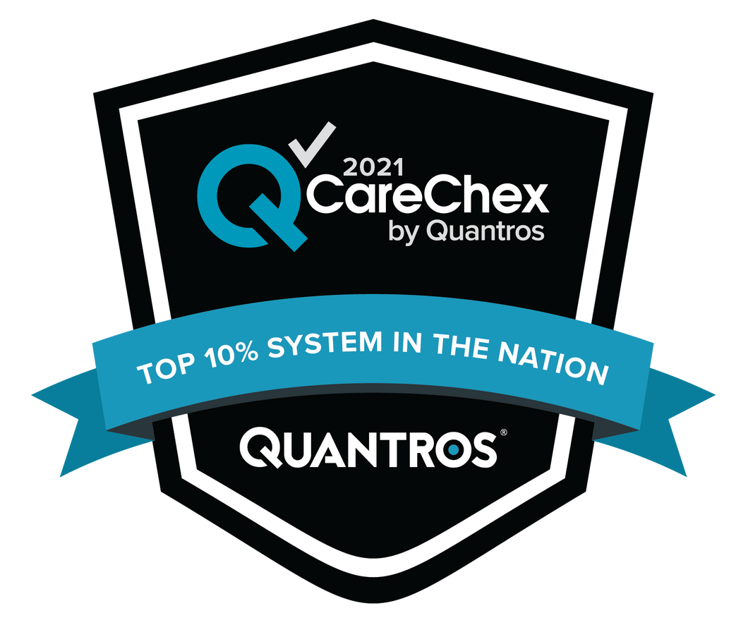 Top 10% System in the Nation - Patient Safety