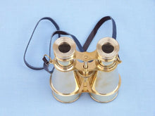 Load image into Gallery viewer, Captain's Solid Brass Binoculars with Leather Case 6""