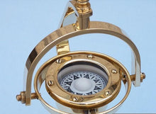 Load image into Gallery viewer, Solid Brass Hanging Compass 8""
