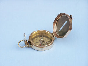 Solid Brass Clinometer Compass 4""