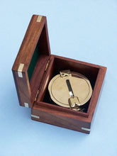 Load image into Gallery viewer, Solid Brass Clinometer Compass 4""