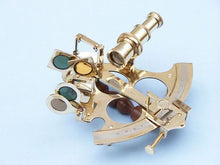 Load image into Gallery viewer, Captain's Brass Sextant with Rosewood Box 8""""