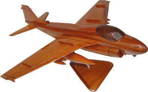 A6 Intruder Mahogany Wood Desktop Airplane Model