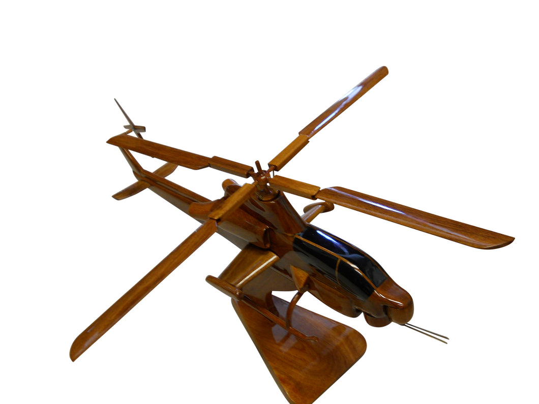 AH1Z Super Cobra Mahogany Wood Desktop Helicopter Model