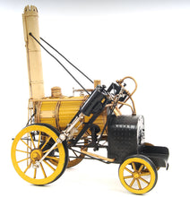 Load image into Gallery viewer, 1829 Yellow Stephenson Rocket Steam Locomotive