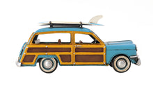 Load image into Gallery viewer, 1949 Green Ford Wagon Car W/Two Surfboards