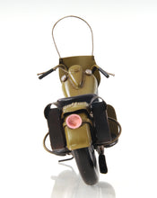 Load image into Gallery viewer, 1942 Yellow Motorcycle 1:12