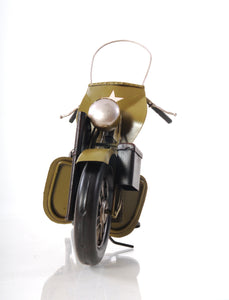 1942 Yellow Motorcycle 1:12
