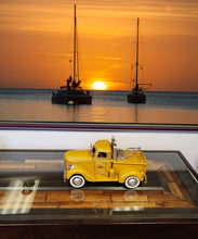 Load image into Gallery viewer, 1926 Pennzoil Tow Truck Yellow Metal Handmade