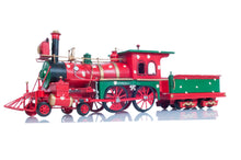 Load image into Gallery viewer, Christmas Train Model Handmade Tin Metal Handmade