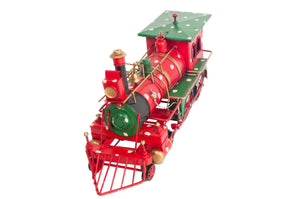 Christmas Train Model Handmade Tin Metal Handmade
