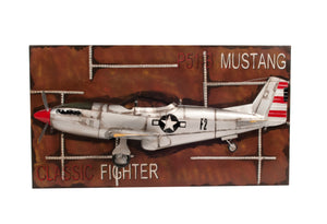 1943 Mustang P-51 Fighter 3D Model Painting Frame