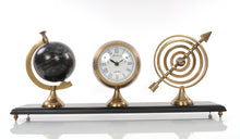 Load image into Gallery viewer, Armillery/Clock & Globe On Wood Base