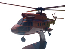 Load image into Gallery viewer, AS-332 Super Puma Mahogany Wood Desktop Helicopter Model