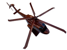 Load image into Gallery viewer, AW 139 Mahogany Wood Desktop Helicopter Model