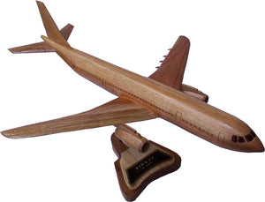 Airbus A300 Mahogany Wood Desktop Airplane Model
